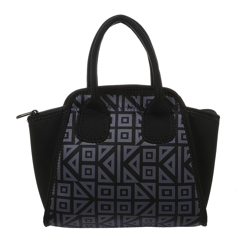 a72997feb0a9 Amazon.com: Ganz Black Geometric Lunch Bag: Kitchen & Dining