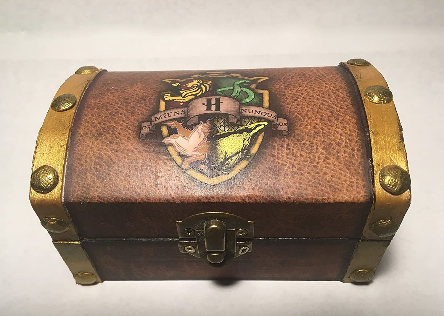 Harry Potter Hogwarts Inspired Proposal Engagement Ring Box Ring Bearer Pillow Box Chest Customizable