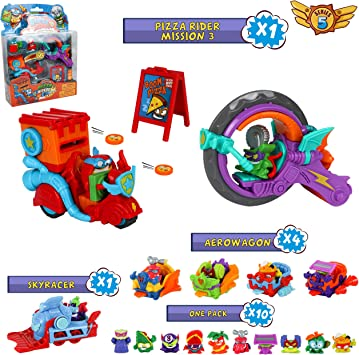 SuperZings Serie 5 - Pizza Riders Mission 3 y Pack Sorpresa con 15 ...