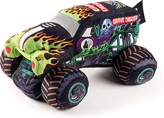 Amazon Com Monster Jam Grave Digger Plush Stuffed Pillow Buddy Super Soft Polyester Microfiber 12 5 Inch Official Monster Jam Product Toys Games