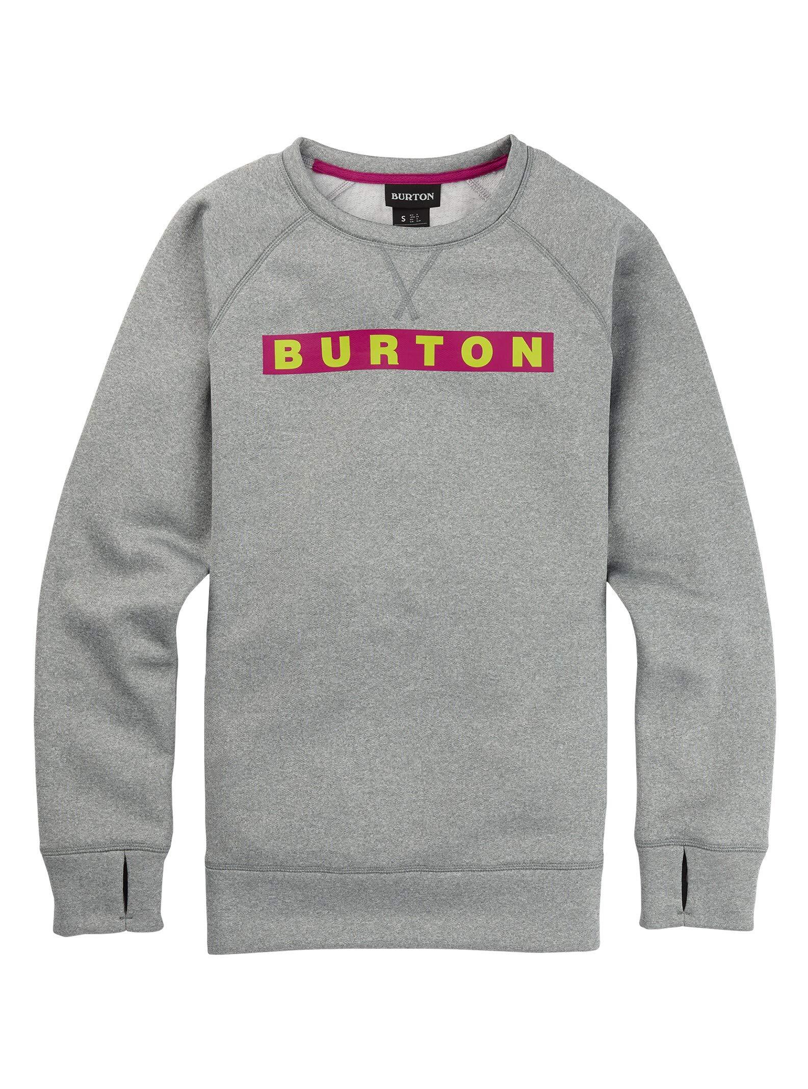 Burton Women's Oak Crew Sweatshirt, Gray Heather, Medium by Burton