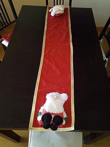 Percorso Babbo Natale.Percorso Natalizio Con Babbo Natale Amazon It Handmade