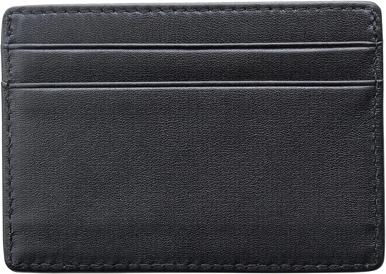 ANCICRAFT Slim Minimalist Front Pocket Leather Wallet Credit Card Holder Case with RFID Blocking For Men