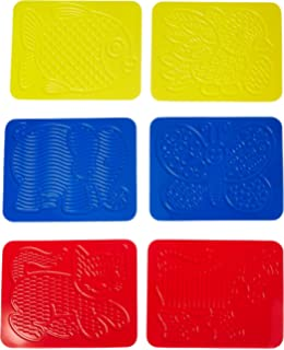 Roylco Teach Me Shapes Rubbing Plate 4 X 5-1//4 in Set of 16