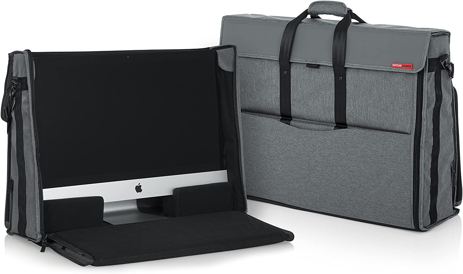 Grey Curmio Travel Carrying Bag for Apple 27 iMac Desktop Computer Protective Storage Case Monitor Dust Cover with Rubber Handle for 27 iMac Screen and Accessories
