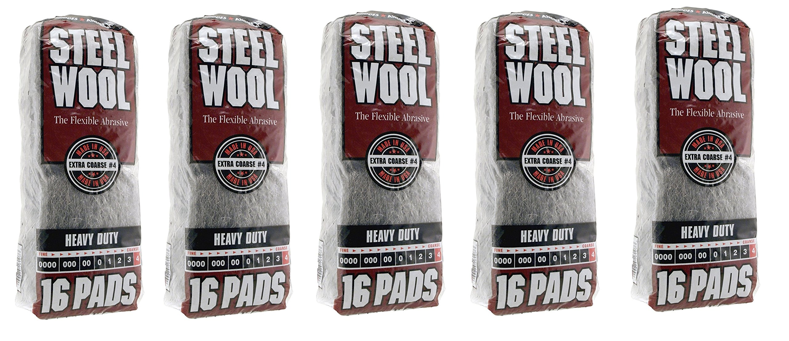 Homax Products 4 4 Homax Steel Wool Pad, No Grit, Sold as 5 Pack by Homax Products