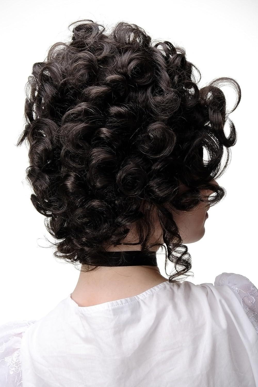 WIG ME UP Perruque qualit/é rococo baroque noble brune Marie Antoinette GFW1675-6