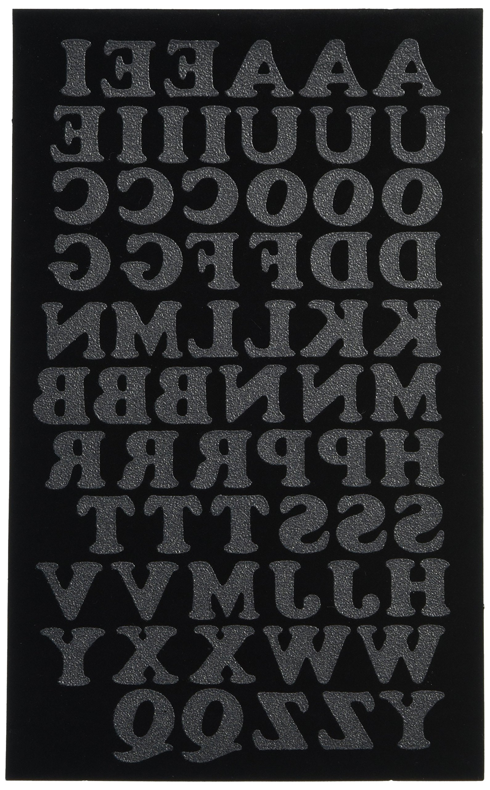 Dritz Iron-On soft flock Letters 1 Inch Block Font-Black