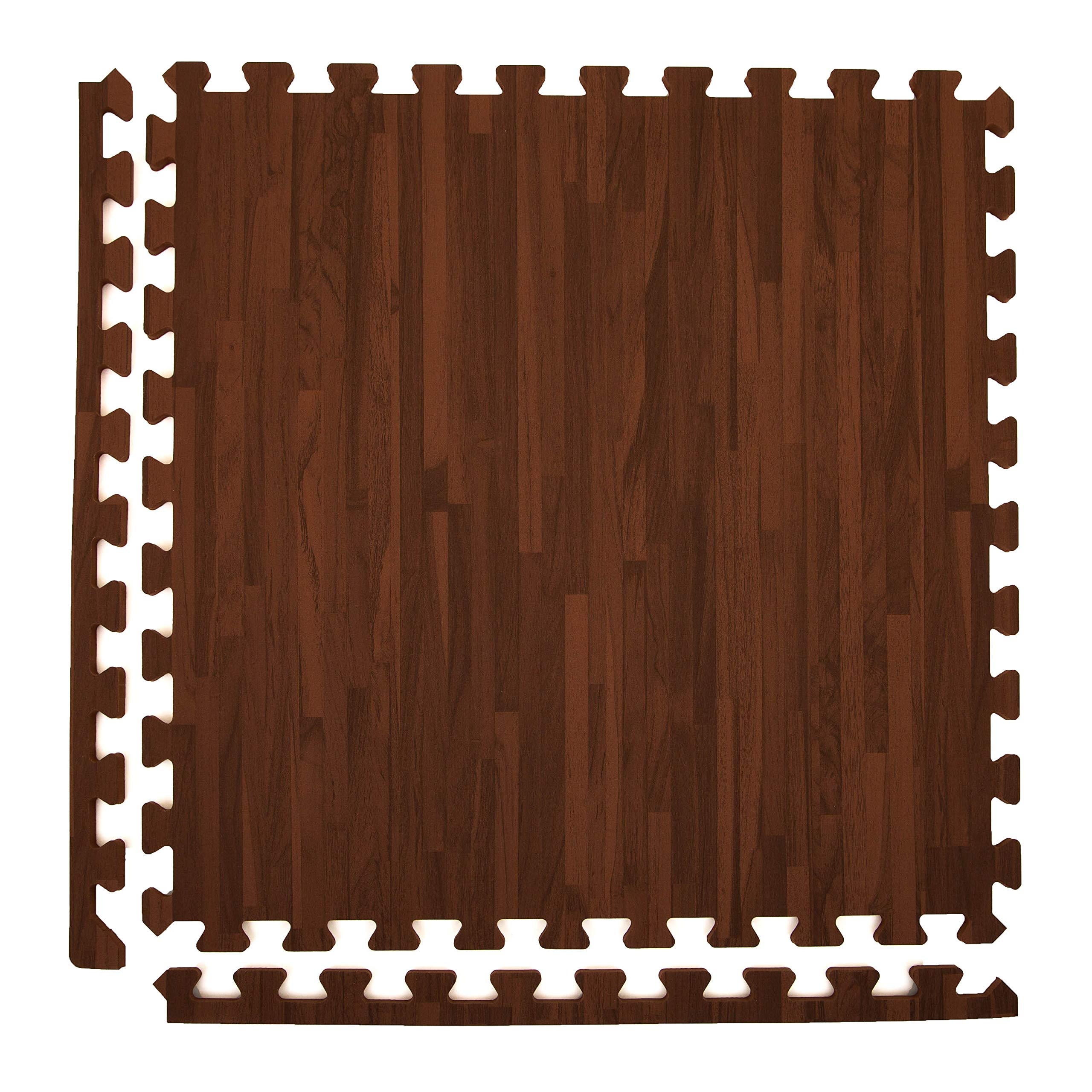 Incstores - Premium Soft Wood Interlocking Foam Tiles (Cherry, 6 Tiles) - Excellent for Trade Show Flooring, Exhibit Flooring, Display Flooring, Conventions, Living Areas, Play Rooms, Yoga and Pilates