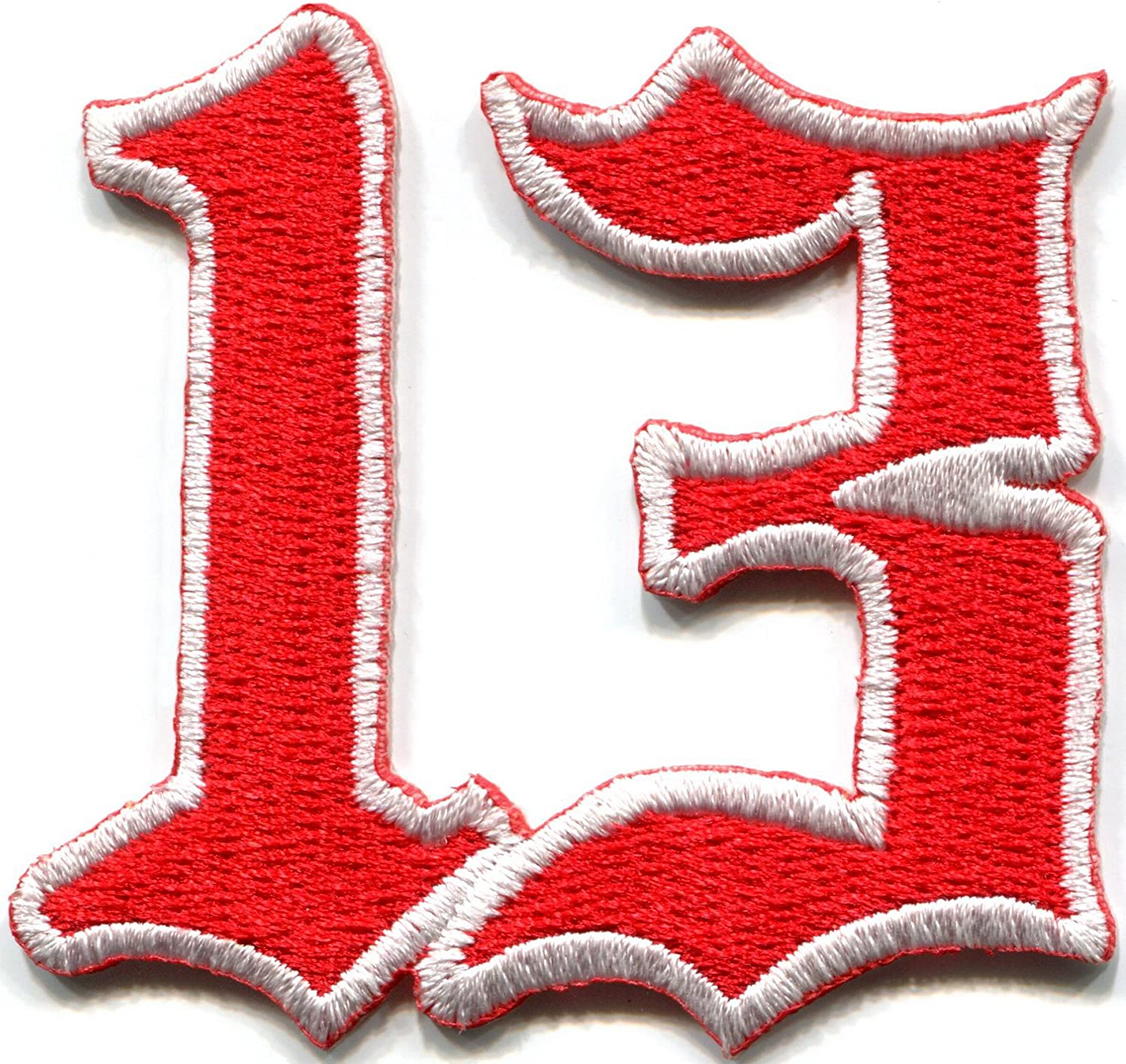 Lucky 13 thirteen biker retro punk rockabilly rock and roll new embroidered applique iron-on patch