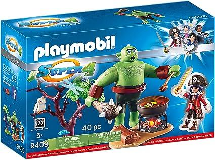 Amazon.com: Playmobil Super 4 ogro con rubí: Toys & Games