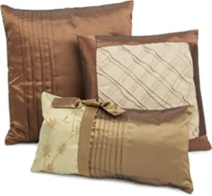 Hudson Street Back to Nature 3-Piece Decorative Pillow Set, Natural