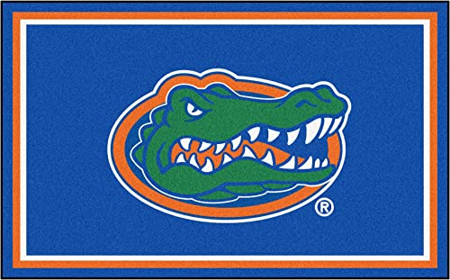 FANMATS NCAA University of Florida Gators Nylon Face 4X6 Plush Rug