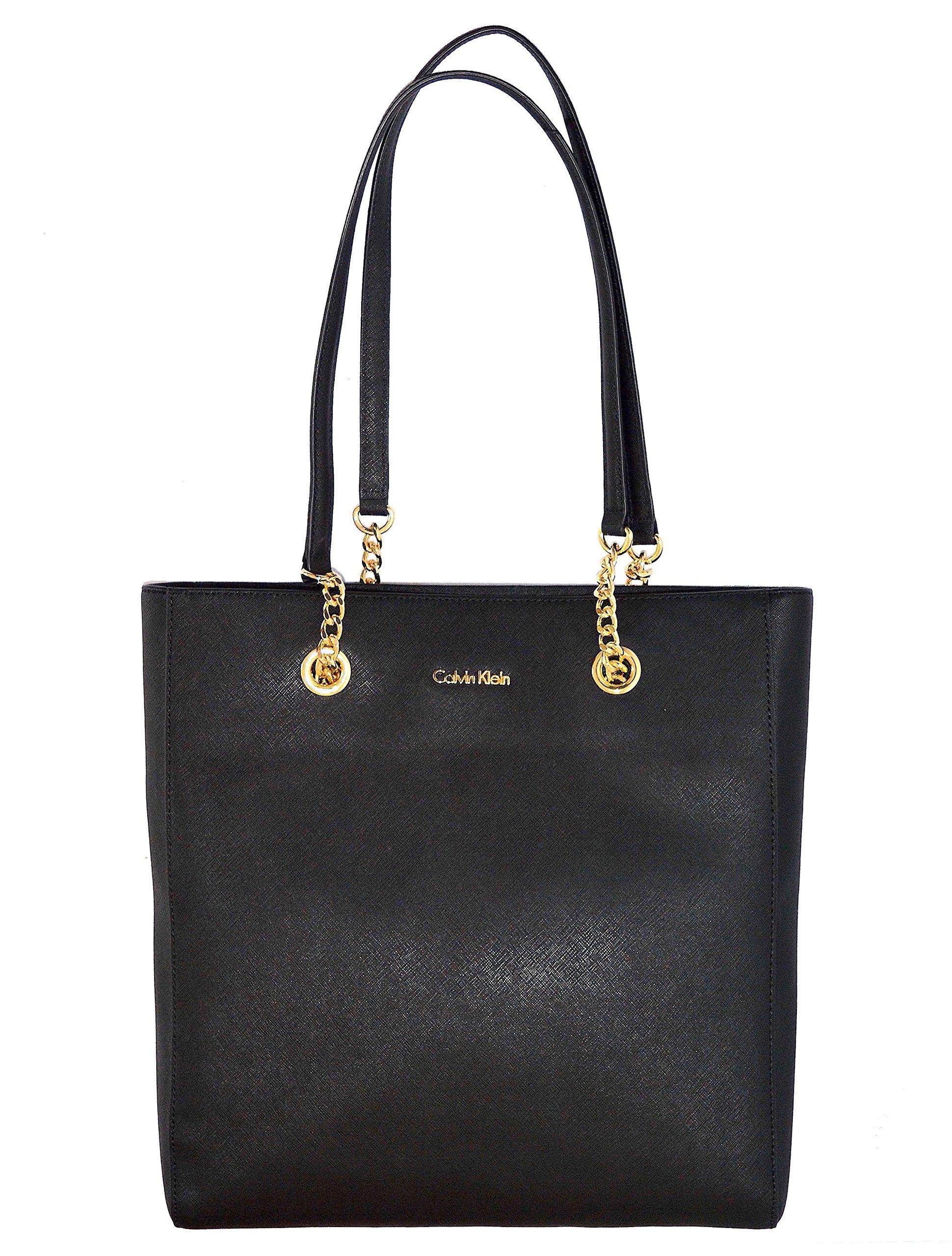 Calvin Klein Saffiano Leather Handbag Bag Purse Womens