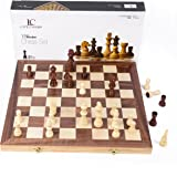 "LifeChamp Chess Sets for Adults and Kids with 15"" Inch Large Folding Wooden Game Board and Storage for the Handcrafted Wood Chess Pieces"