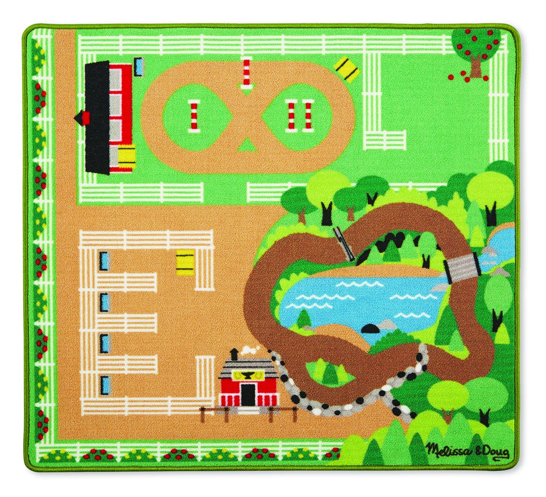 Melissa & Doug Spielteppich (100 x 90 Zentimeter) - Pferde (6 Teile) 19409