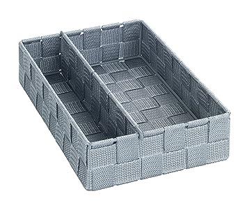 Badorganizer 32 x 10 x 21 cm Wenko 21532100 Organizer Adria mit Griff grau grau Polypropylen