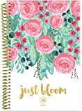 "bloom daily planners 2018 Calendar Year Daily Planner - Passion/Goal Organizer - Monthly and Weekly Datebook Agenda Diary - January 2018 - December 2018 - 6"" x 8.25"" - Just Bloom"
