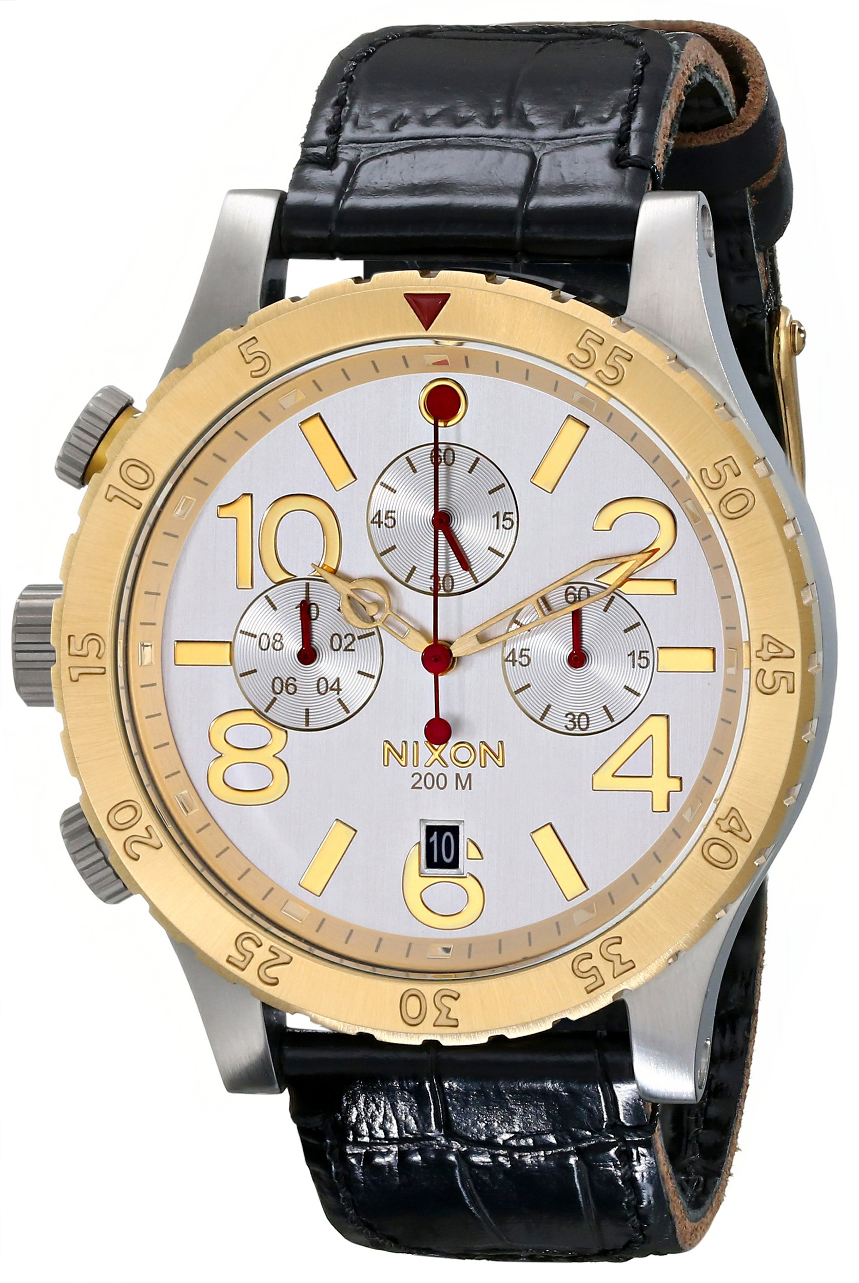 Nixon Men's A3631884 48-20 Chrono Leather Watch