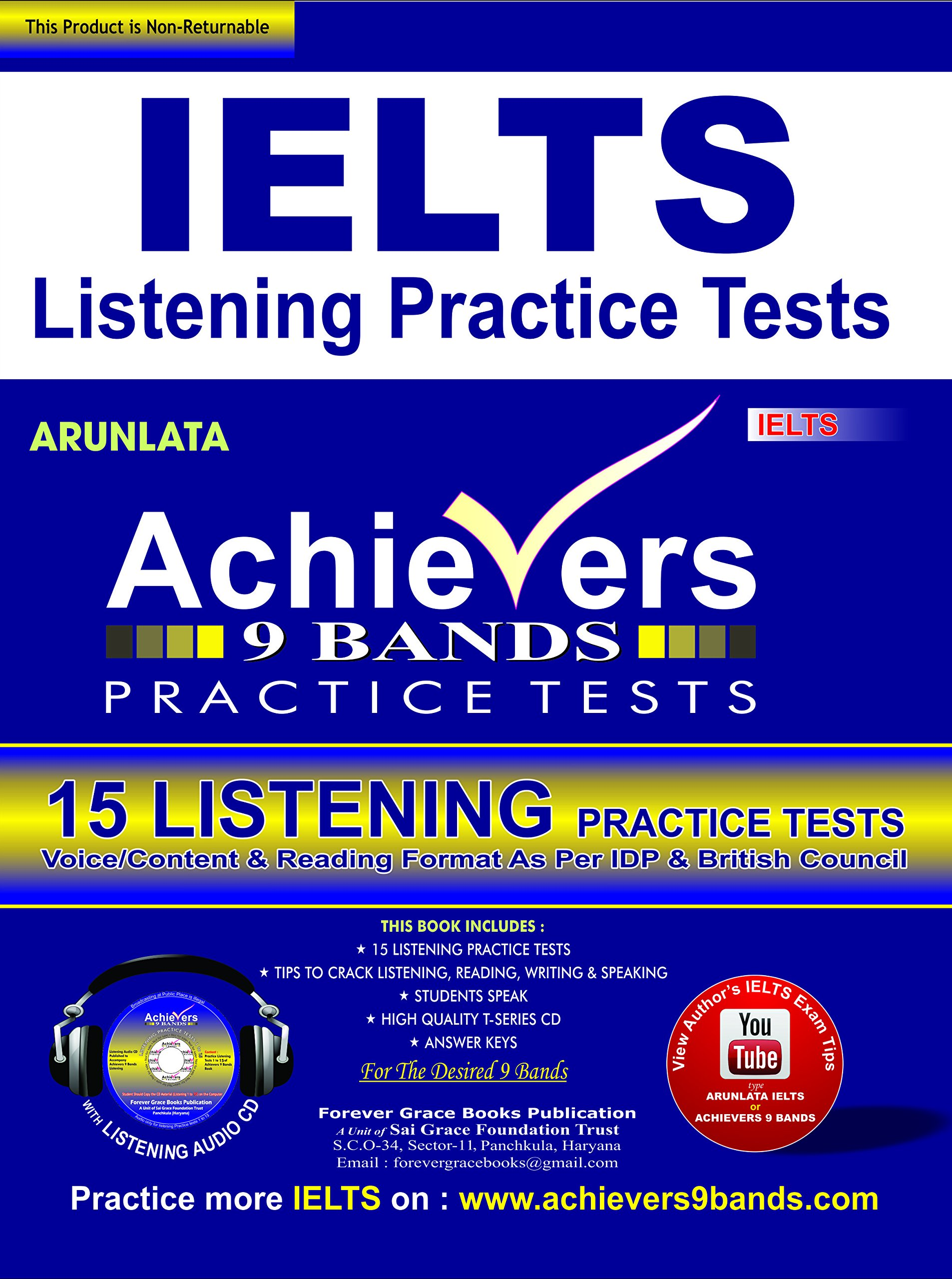 Buy Achiever IELTS 9 Bands IELTS Listening Practice Tests