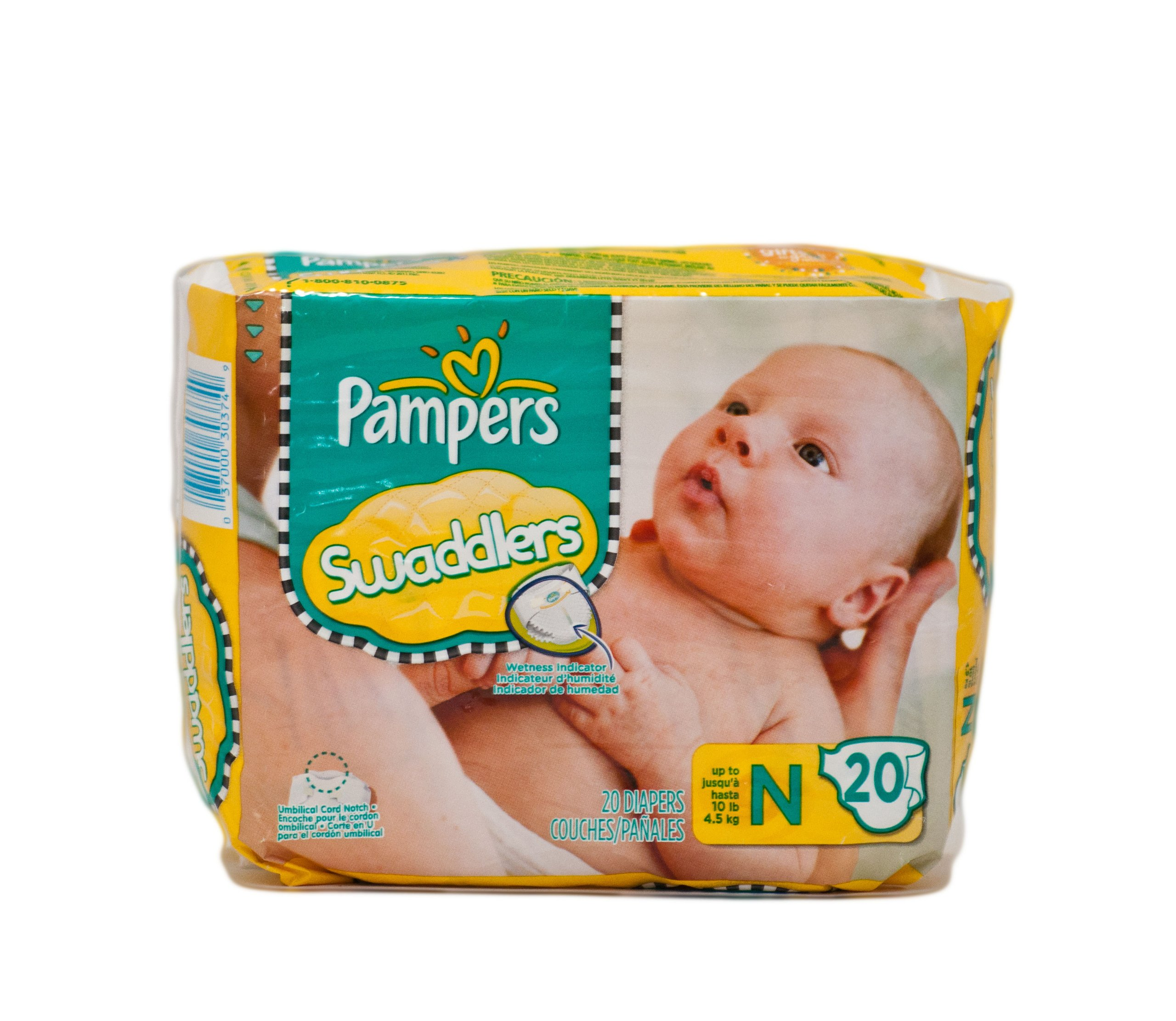 Pampers Swaddlers Newborn - 2 Cases of 240 Count Diapers