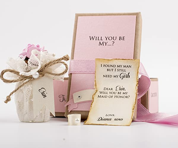Amazon Com Will You Be My Bridesmaid Gift Message In A Bottle