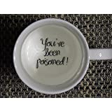 You 2 have been poisoned Coffee Mug, surprize mug, Father, Grandmother, Bottom mug, hidden message, secret message, Funny, Cool, Coffe cup