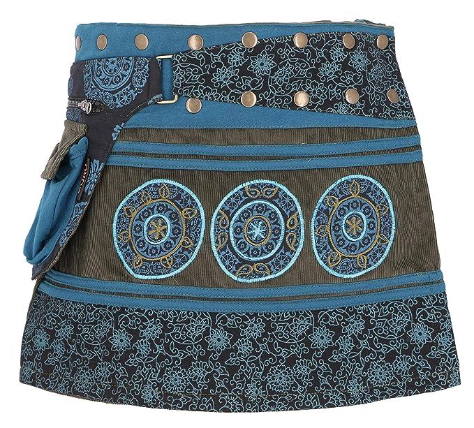 GURU-SHOP - Falda Corta para Mujer, Color Verde, algodón, Talla ...