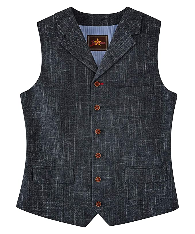 1950s Men's Clothing Joe Browns Mens Simple Charcoal Pocket Waistcoat £55.00 AT vintagedancer.com