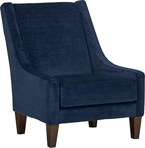 Amazon Brand Stone Beam St. Cloud Modern Armless Accent Chair, 32 W, Indigo