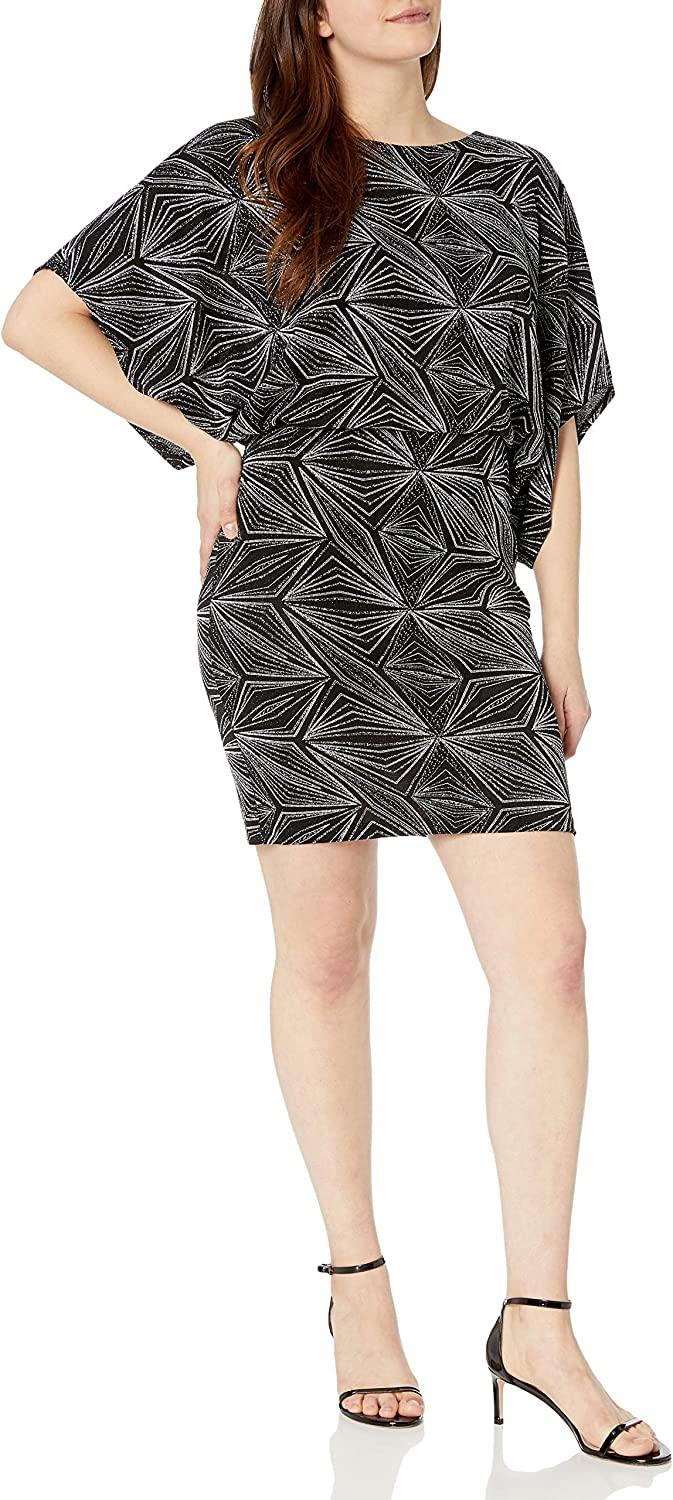 Jessica Howard Damen Dolman Sleeve Blouson Sheath Dress Kleid f/ür besondere Anl/ässe