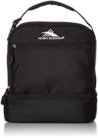464d44721ce21c High Sierra 74714-1041 Stacked Compartment Lunch Bag, Black, Under Seat