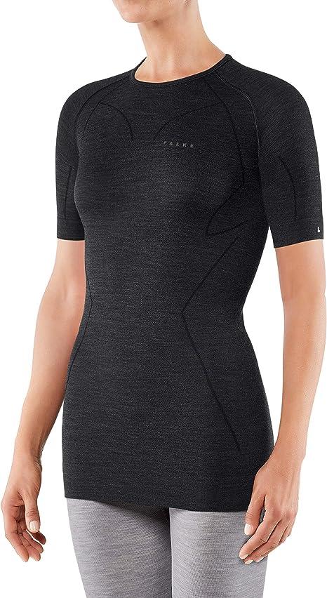 Grey//Black//Red FALKE Mens Impulse Running Short Sleeve Shirt