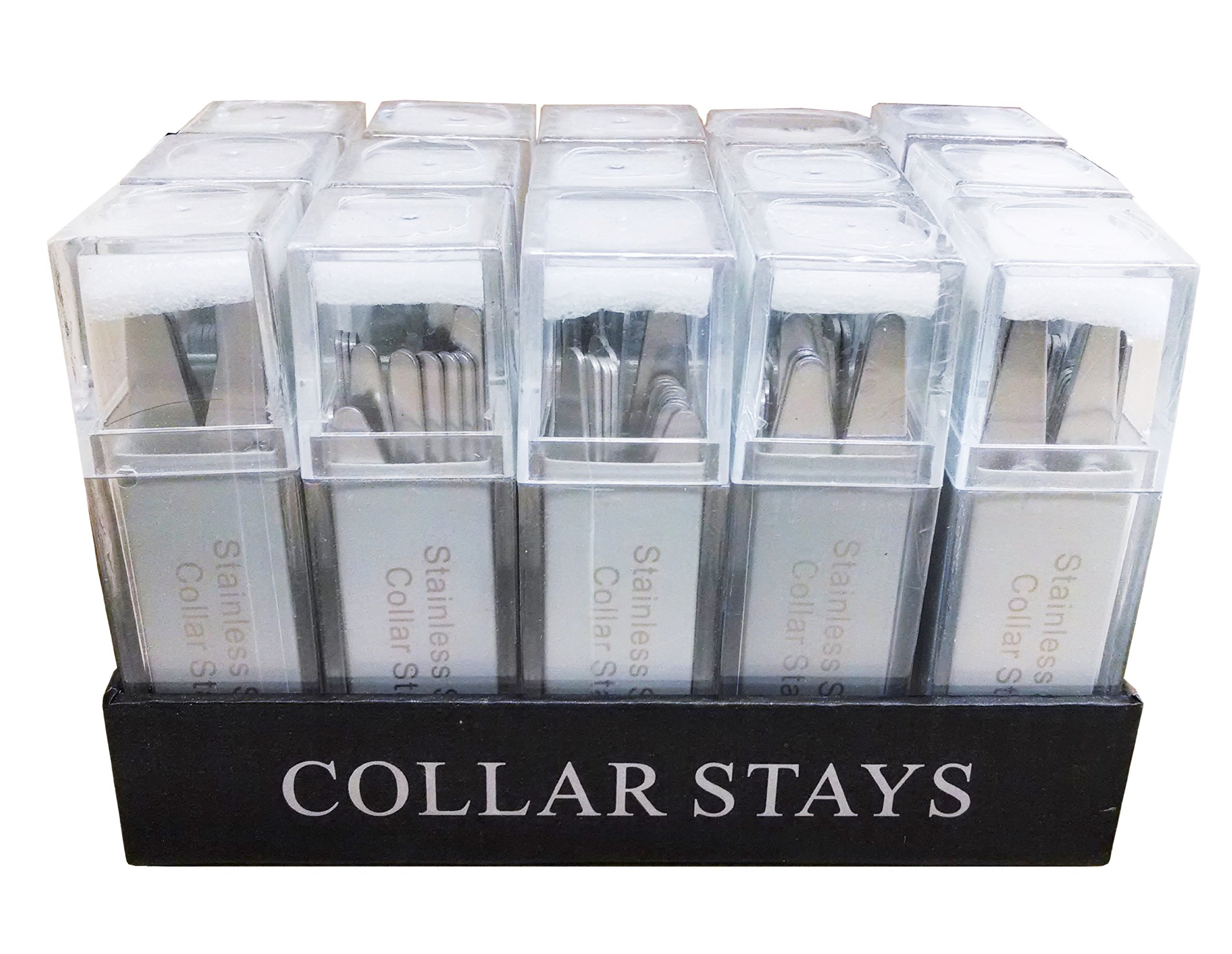 Wholesale Metal Collar Stays - 15 Sets of 28 Collar Stays (4 Sizes)