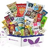 Healthy Vegan Snacks Care Package: Mix of Vegan Cookies, Protein Bars, Chips, Vegan Jerky, Fruit & Nut Snacks, Great…