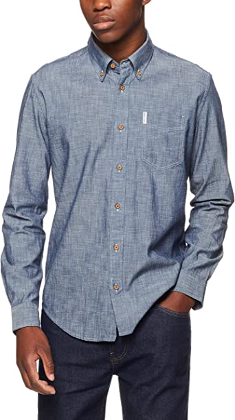 Ben Sherman LS New Chambray Shirt Camisa para Hombre: Amazon.es: Ropa y accesorios