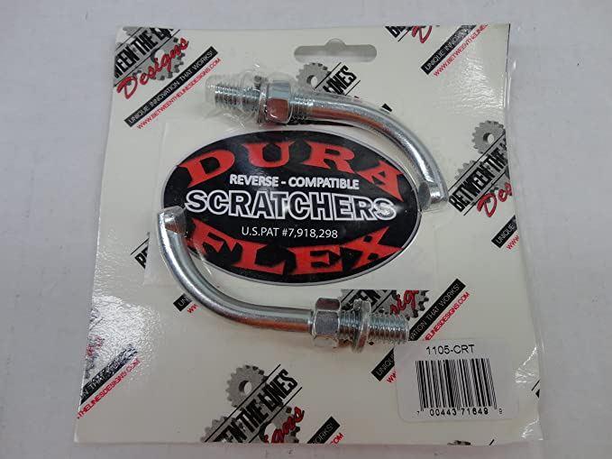 Flex Ice Scratchers Kit replace for the Dura fit all reverse and non-reverse gear equipped snowmobiles for one-bolt mounting
