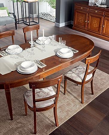 le fablier - tavolo ovale allungabile struttura in legno massello ... - Tavolo Ovale Allungabile Legno Massello
