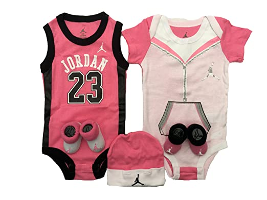Baby Girl Jordan Clothes Enchanting Amazon Jordan 60600 Piece Infant Set 60060 Months 60 Pink Black