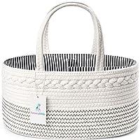 Luxury Little Baby Diaper Caddy Organizer - Rope Nursery Storage Bin for Boys and Girls - Large Tote Bag & Car Organizer…