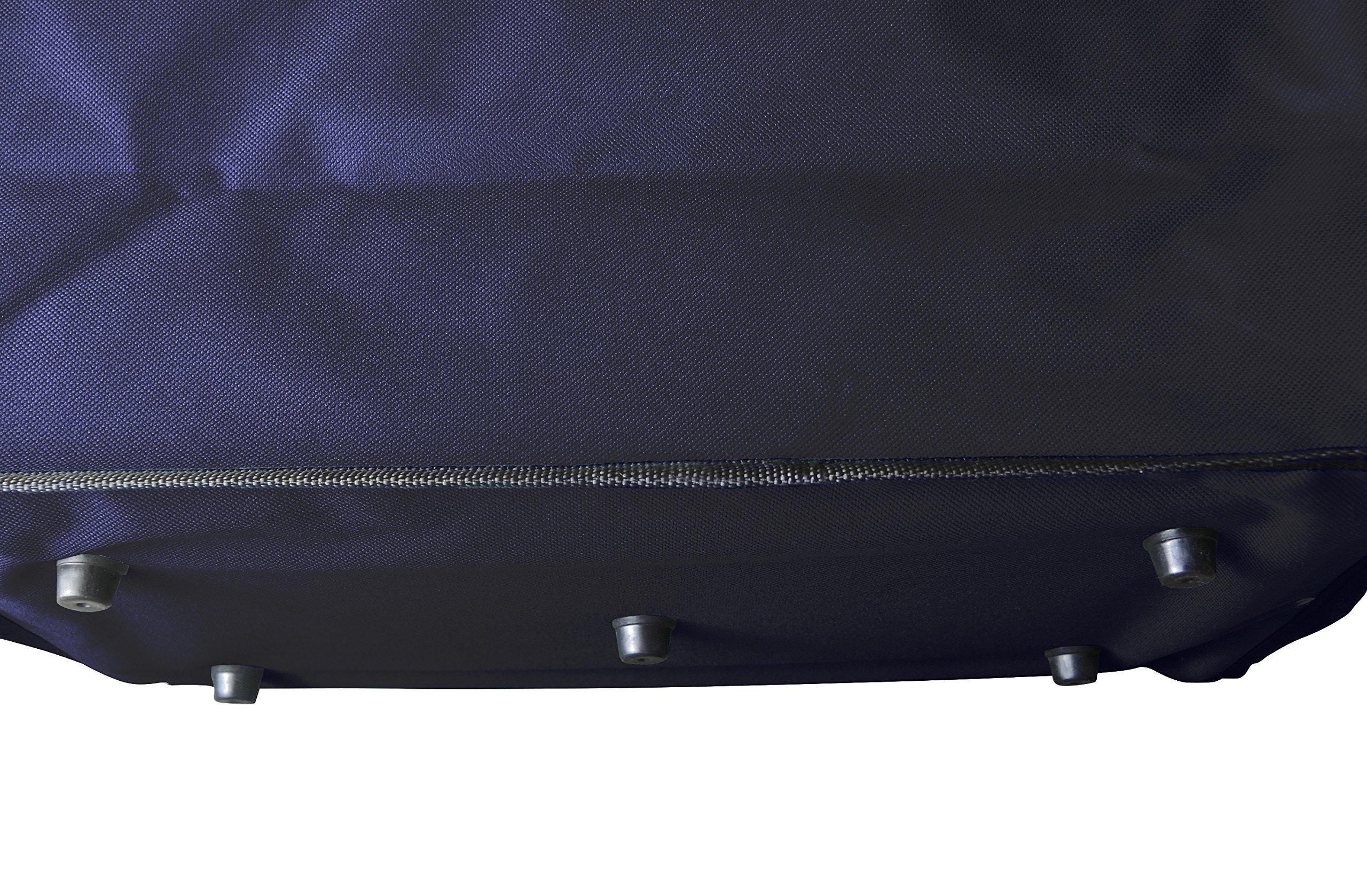 Faltbarer, praktischer Carrybag mit Deckel, Bezug aus hochwertigem, wasserabweisendem Polyestergewebe My Basket to GO kompakt, zusammenfaltbarer Shopper mit weich ummantelten Griffen DUNKELBLAU