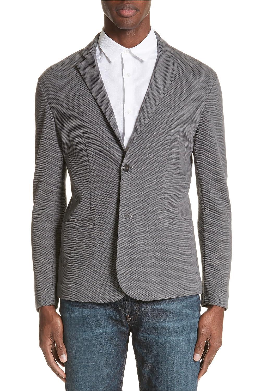 [エンポリオ アルマーニ] メンズ ジャケットブルゾン Emporio Armani Regular Fit Knit Blazer [並行輸入品] B07DVZBCPM 42_US-52_EU_R
