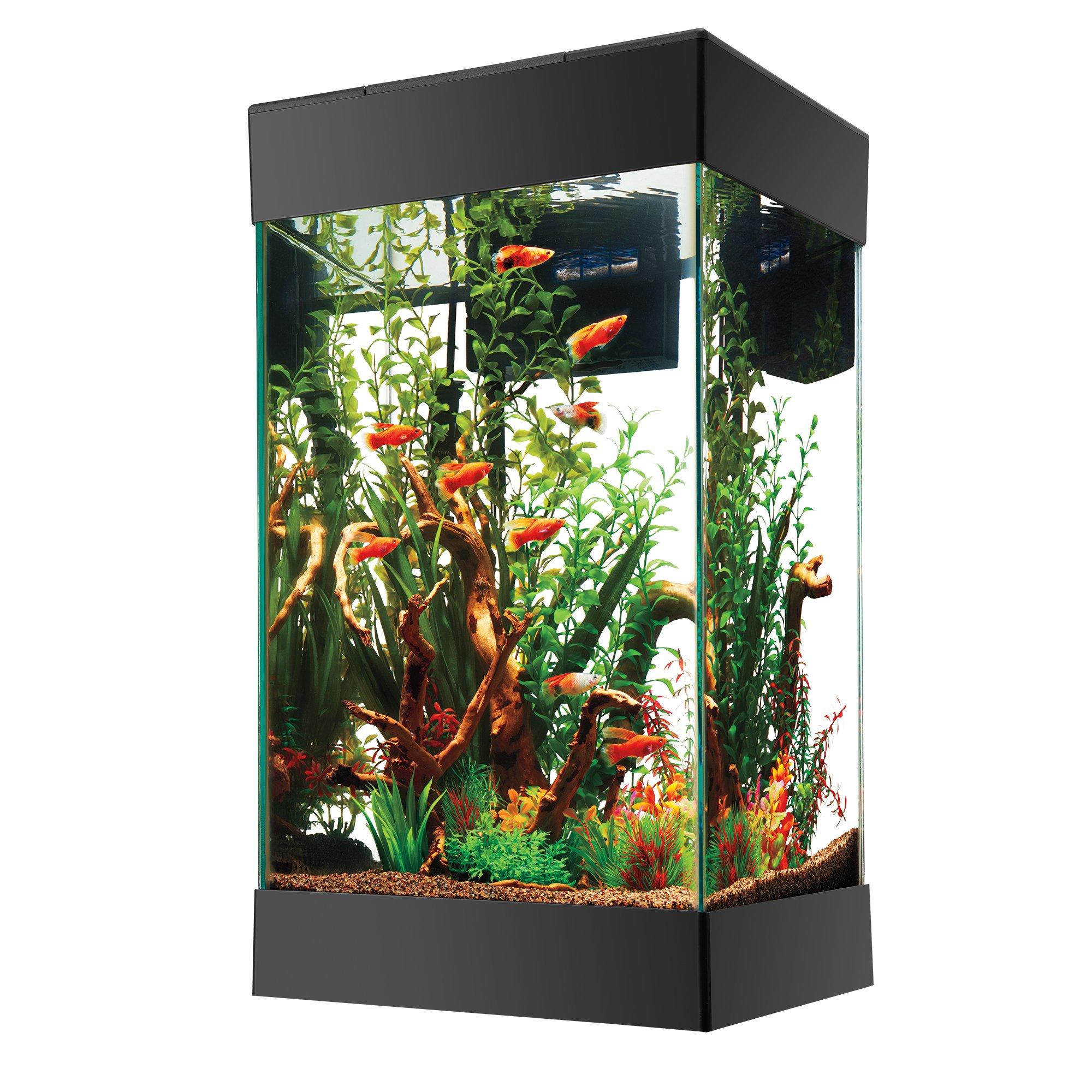 Aqueon 15 Gallon LED Column Aquarium Fish Tank Starter Kit