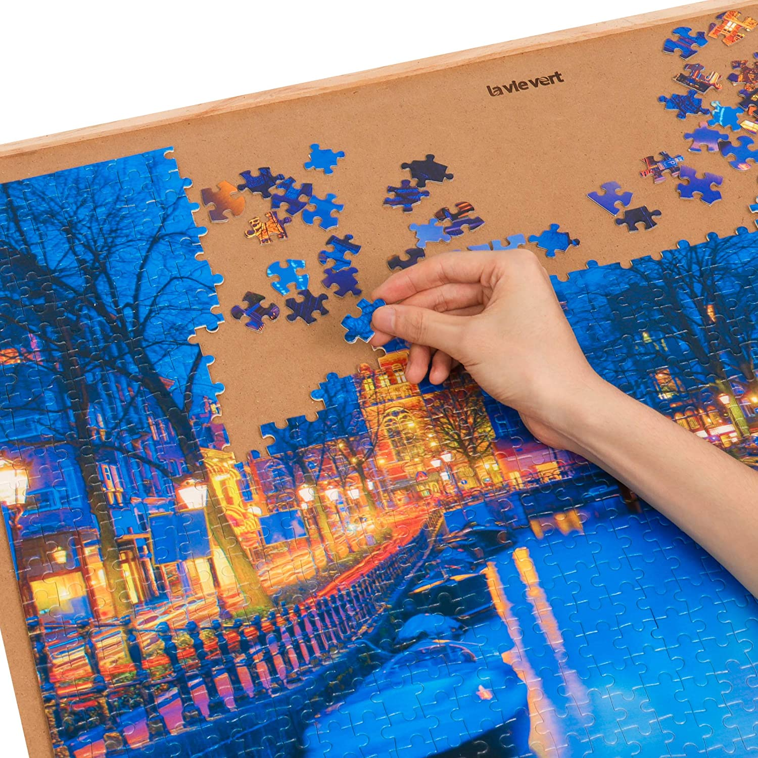 Lavievert 1000 Piece Jigsaw Puzzles Amsterdam in The Night Puzzle for Adults and Families