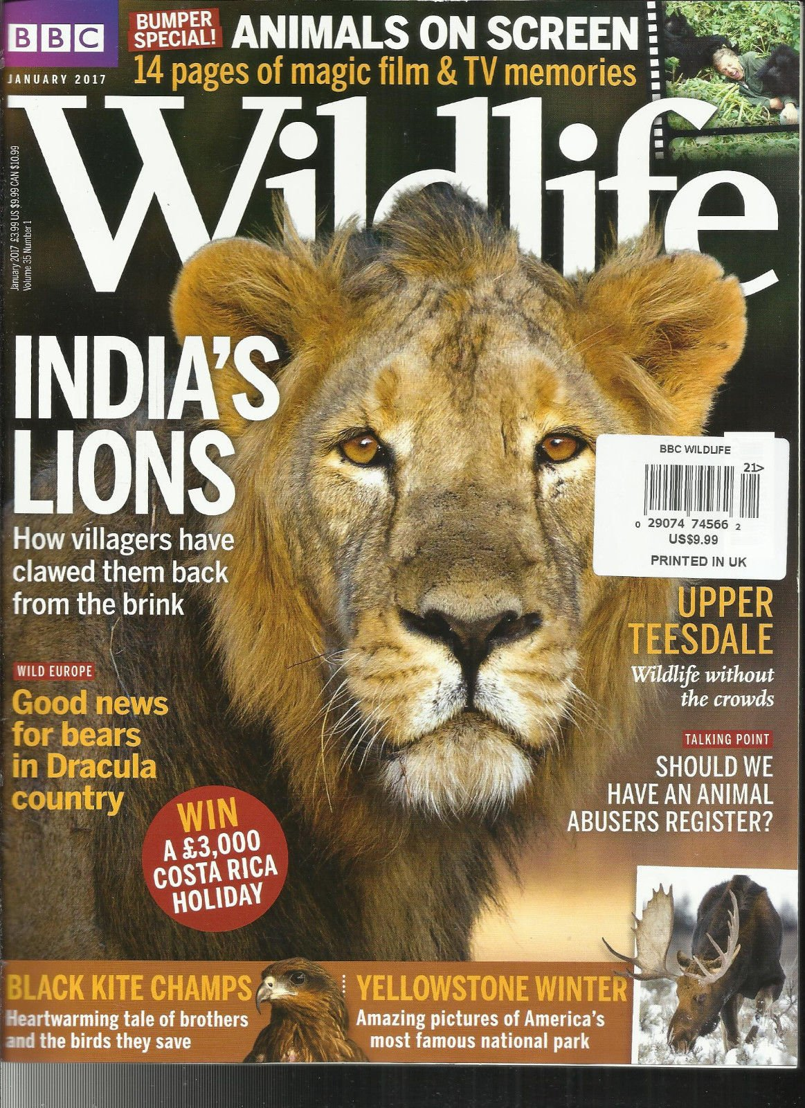 BBC WILD LIFE MAGAZINE, JANUARY, 2017 VOL. 39 NO. 1 ANIMAL ON SCREEN
