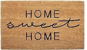 NIKKY HOME Coir Doormat Non Slip Front Door Mat with Word Home Sweet Home - 17
