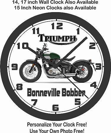 Amazon Com 2017 Triumph Bonneville Bobber Wall Clock Home Kitchen