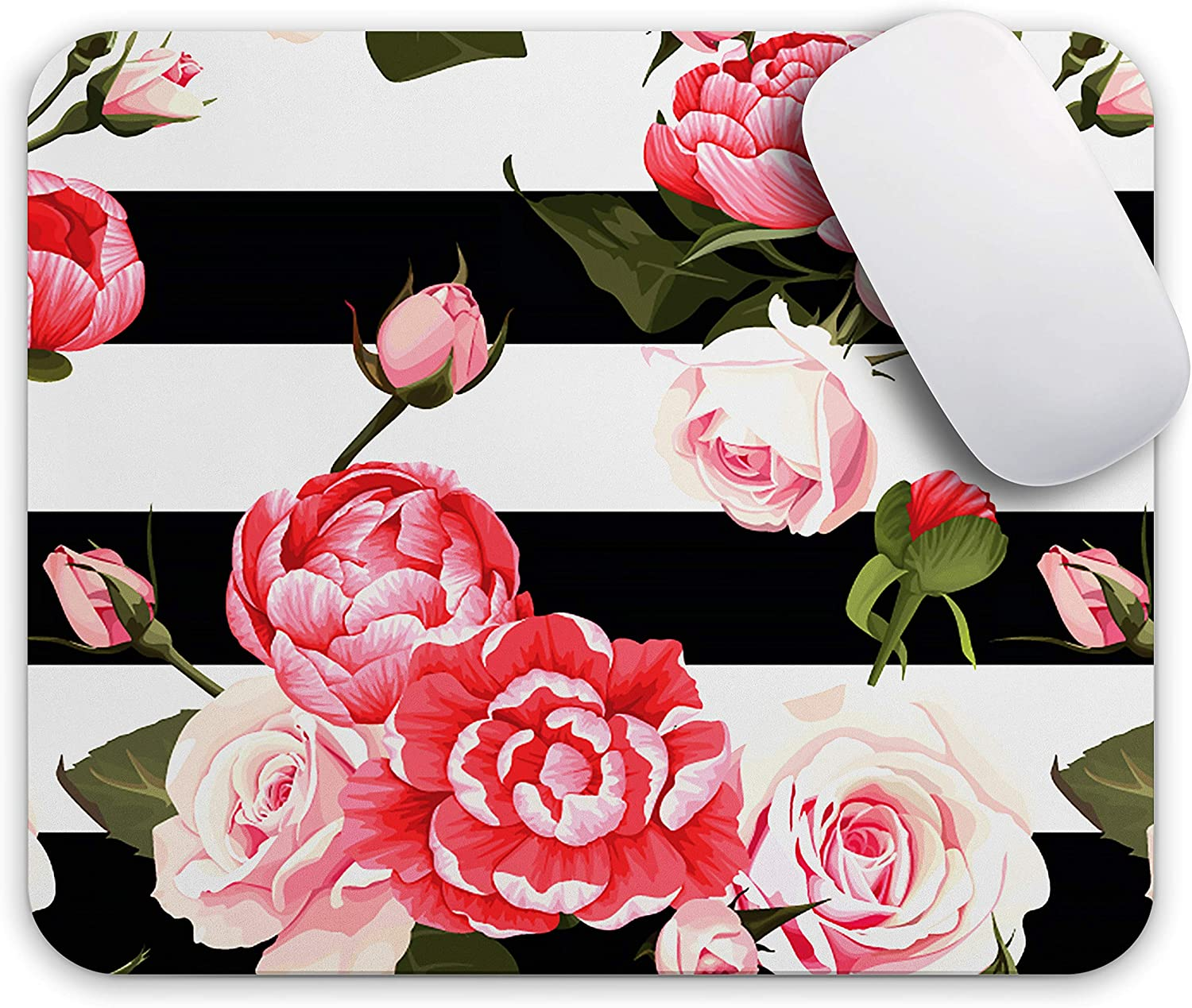 Oriday Gaming Mouse Pad Custom, Inspirational and Motivational Design for Women (Marine Rose)