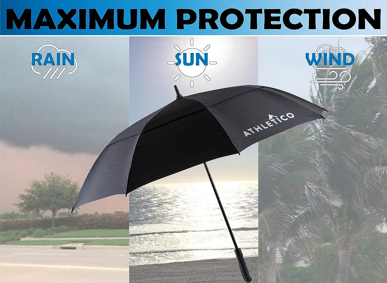 amazon com athletico 62 68 inch automatic open golf umbrella