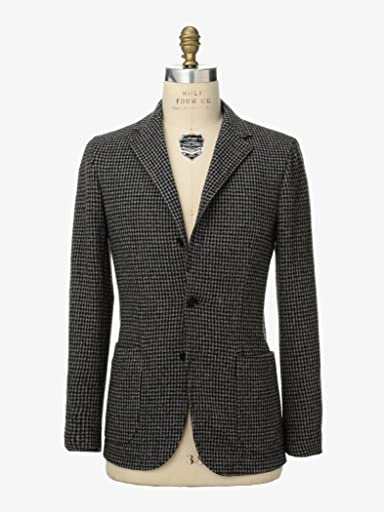 Houndstooth Cotton Polyester Jersey Jacket 1122-199-2493: Grey